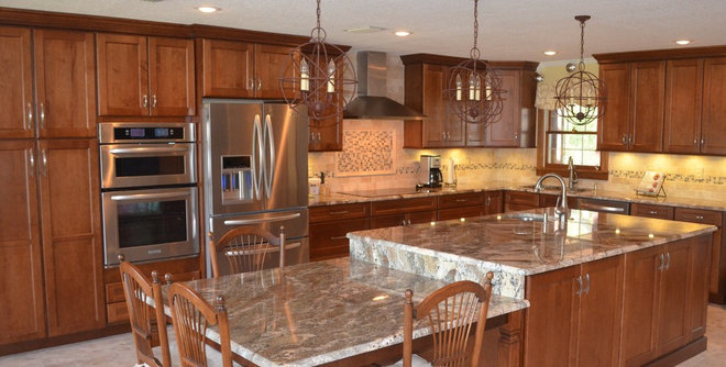 Traditional Kitchen by Leverette Home Design Center