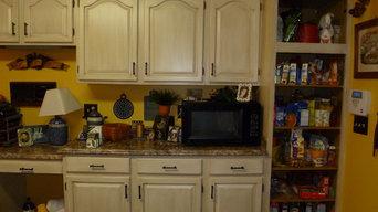 Kitchen Cabinet Glazing Makeover