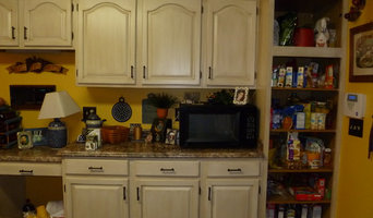 Kitchen Cabinet Glazing Makeover