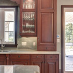 Kitchen cabinet inserts - Traditional - Kitchen - toronto - by Casa Loma Doors & Art glass