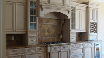 Kitchen cabinet painted and glazed
