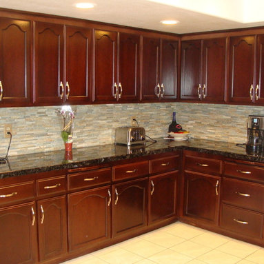 Gel staining kitchen cabinets - YouTube