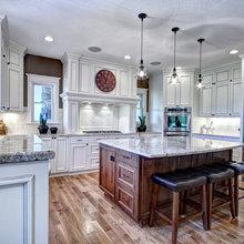 White kitchen & Hickory floors