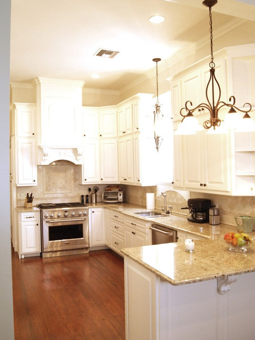 kitchen with backsplash giallo ornamental granite countertop houzz 13875