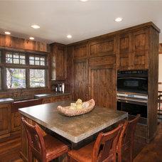 Rustic Kitchen by Carl M. Hansen Companies
