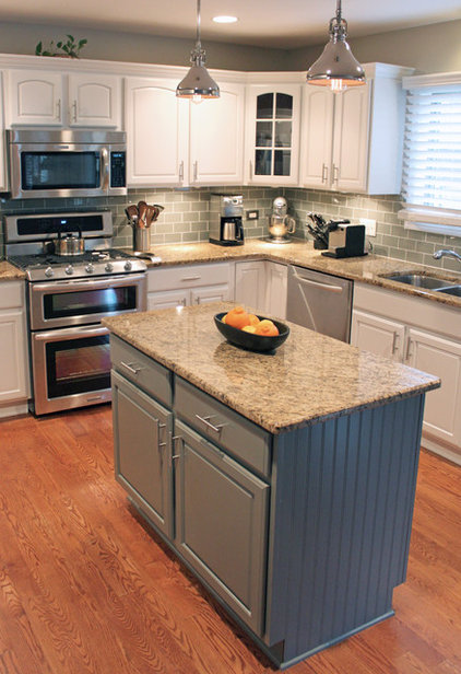 Taking a kitchen from beige to bright for less than 9 000 for Brightly painted kitchen cabinets
