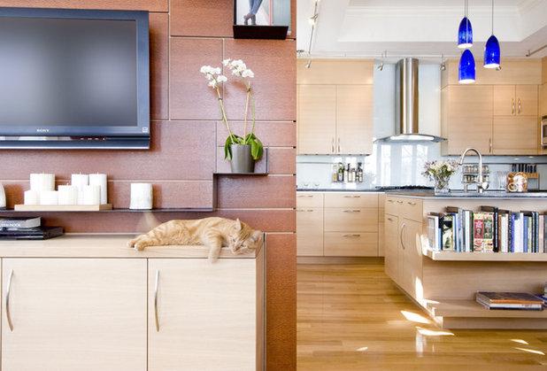 コンテンポラリー キッチン by Chang + Sylligardos Architects