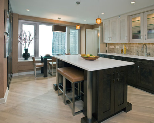 Dark Cabinets Light Floor Ideas, Pictures, Remodel and Decor