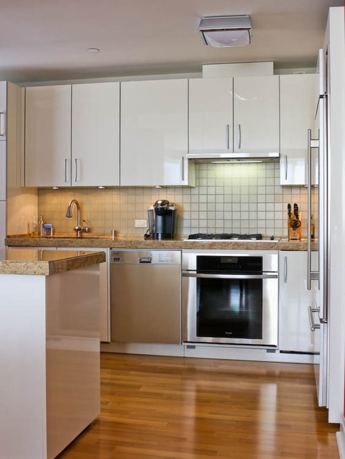 11 Small Contemporary U-Shaped Kitchen Pantry Design Photos with ...