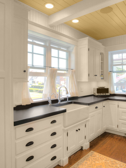 black beadboard kitchen cabinets black laminate countertop ideas pictures remodel and decor 12335