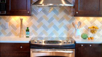 Kitchen: Classic Design with a Unique Herringbone Backsplash
