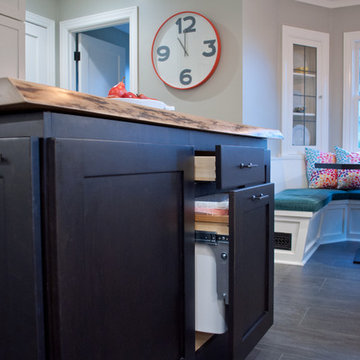 Kitchen: Classic Modern with a Live Edge Twist!