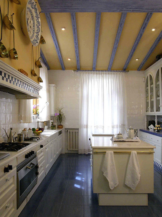 French Country Kitchen Blue And Yellow french country blue and yellow decor | houzz