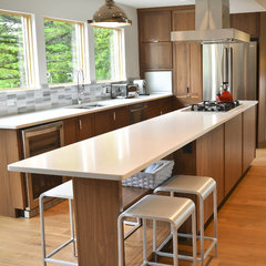 modern kitchen by Copper Brook Homes