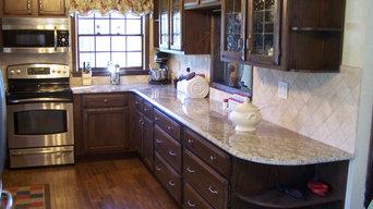 Kitchen counters and backsplash stone.