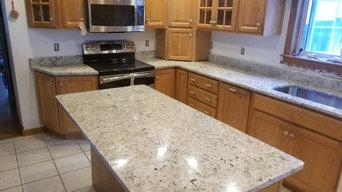 Kitchen Countertop in Snowfall Granite