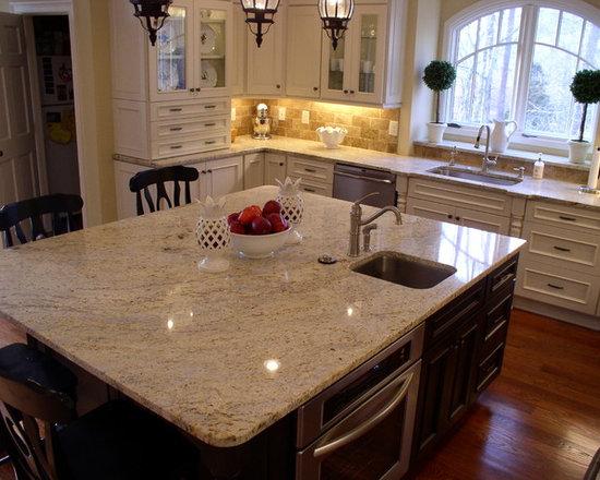 Cream Granite Countertop Houzz