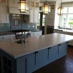 Caesarstone Quartz Concrete Kitchen Island Countertop