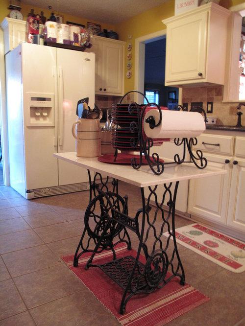 repurpose sewing machine table houzz