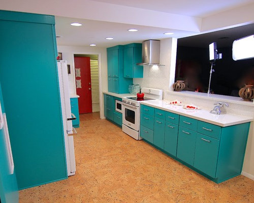 Pass Through Kitchen Design Ideas Renovations Photos With Cork Flooring