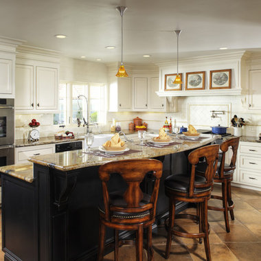 Multi level kitchen island design design ideas pictures remodel and