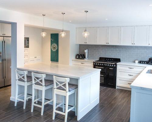Küchen mit Rückwand aus Zementfliesen und Laminat Ideen, Design ...