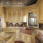 Tri Color Kitchen Rustic Kitchen Huntington By