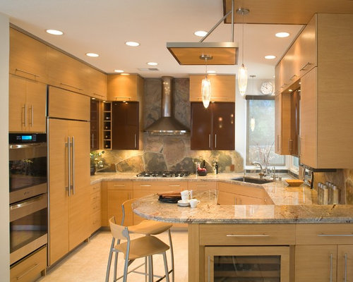 Contemporary Kitchen Designs Trendy U Shaped Photo In San Go With A Single