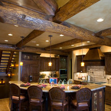 Rustic Kitchen by DesignWorks Development