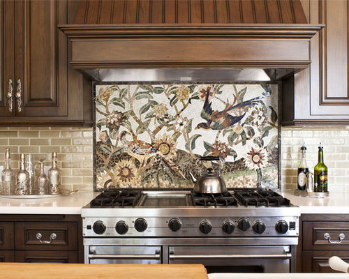 SaveEmail - Cream Subway Tile Backsplash Ideas, Pictures, Remodel And Decor