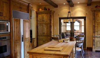 Kitchen Detail with Wood Beams and Island