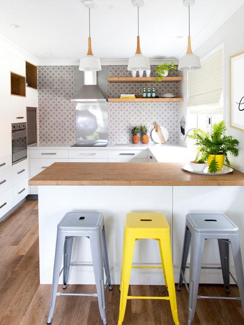 Skandinavische Küchen mit Vinylboden Ideen, Design & Bilder   Houzz