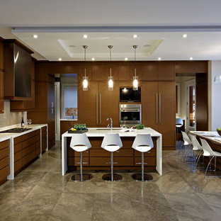 Contemporary Eat In Kitchen Designs   Inspiration For A Contemporary  L Shaped Eat