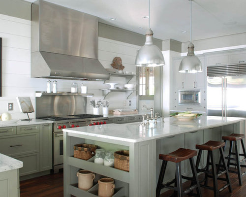 Traditional Kitchen Idea In Atlanta With Stainless Steel Appliances, A  Farmhouse Sink, Recessed  Part 62