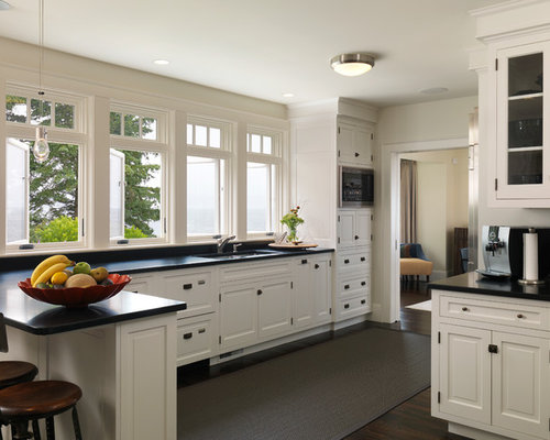white cabinets with black countertops design ideas  remodel,Kitchen Ideas White Cabinets Black Granite,Kitchen decor