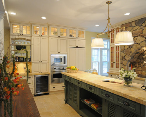upper cabinet lighting. Kitchen - Traditional Idea In Other With Recessed-panel Cabinets, Paneled Appliances And Upper Cabinet Lighting A