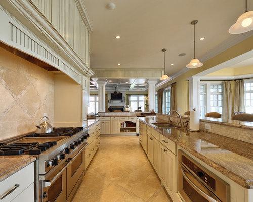 galley kitchen backsplash houzz