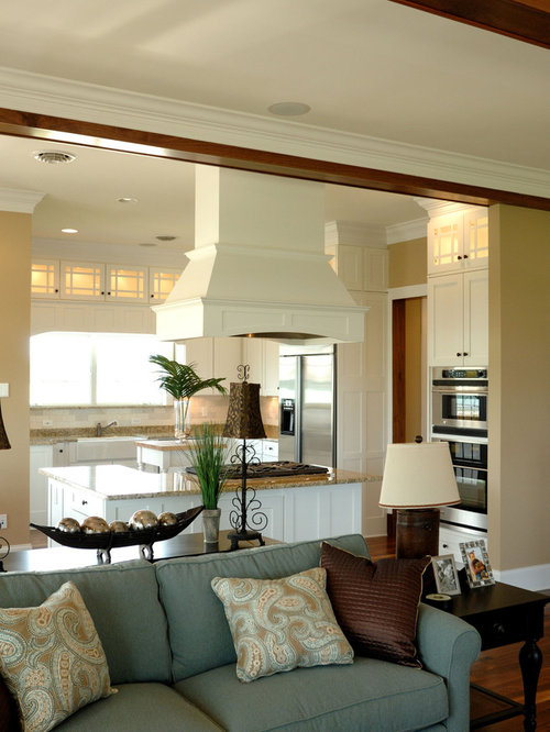 Example Of A Classic Open Concept Kitchen Design In Other With Stainless  Steel Appliances