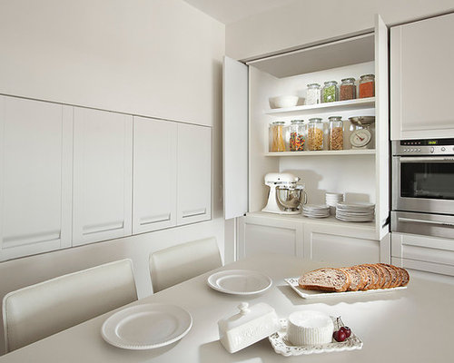 Contemporary Kitchen Idea In Other With Shaker Cabinets, White Cabinets And  Stainless Steel Appliances