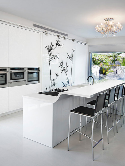 Solid White Countertop Home Design Ideas Pictures Remodel And Decor