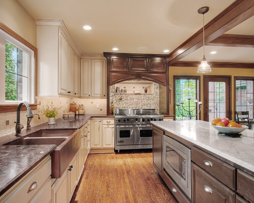 Contrasting Granite Home Design Ideas, Pictures, Remodel and Decor