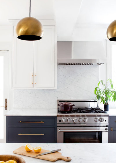 Transitional Kitchen by Elizabeth Lawson Design