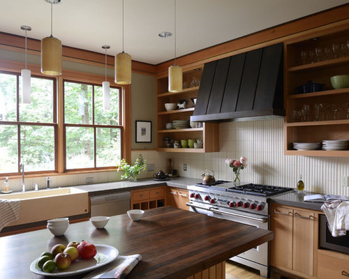 Open Shelving Range Hood Home Design Ideas, Pictures, Remodel and Decor