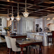 Traditional Kitchen by EuroCraft Interiors Custom Cabinetry