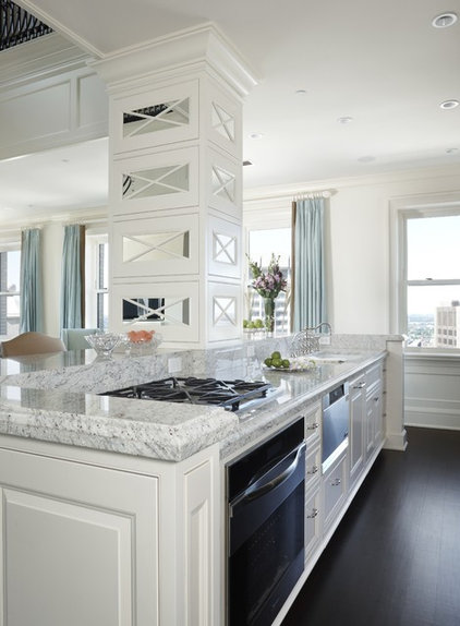Transitional Kitchen by EuroCraft Interiors Custom Cabinetry