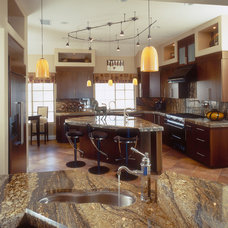 Transitional Kitchen by Marrokal Design & Remodeling