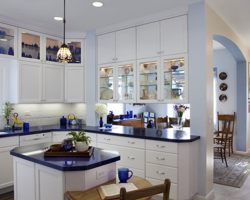 White And Blue Kitchen Home Design Ideas, Pictures, Remodel and Decor