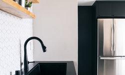 Kitchen Floating Shelves & Sink