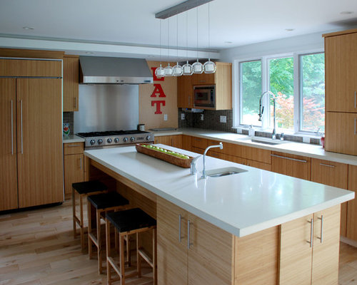 White Countertops | Houzz on Light Maple Cabinets With White Countertops  id=43333
