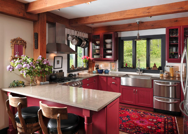 Rustic Kitchen by Fredman Design Group